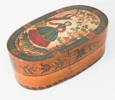 Antique Painted American Storage Box : Lot 293