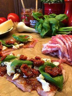 Plankstek med ostfyllda kycklinglårfiléer, parmesanduchesse och citronaioli