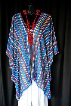 Multistriped chiffon Kaftan by MollyKaftans on Etsy, $59.00