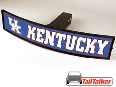 Kentucky Wildcats Trailer Hitch Cover Illuminated by tailtalker