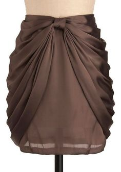 Creme colored silk blouse & pearls to top this would be gorgeous. Love this skirt. Love the style and the color.