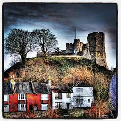 Lewes Castle from The Paddock in Lewes UK