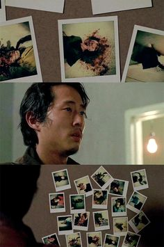 The Walking Dead Season 6 Episode 12 'Not Tomorrow Yet' Glenn Rhee. I think this was foreshadowing for his future death in Season 7 Episode 1 'The Day Will Come When You Won't Be' Glenn The Walking Dead, The Walk Dead, Walking Dead Season 6, Steven Yuen, Rip Glenn, Glenn Rhee, Devious Maids, Fotos Do Instagram, Hemlock Grove
