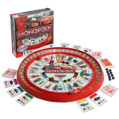 Monopoly Cars 2 Race Track Game Monopoly,  This arrives Monday! Can't wait to do something while it's snowing outside!