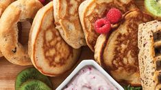 Easy Peasy Apple Pie Pancakes | Epicure.com Epicure Recipes, Apple Recipes, Easy To Cook Meals, Apple Pie Spice, Gluten Free Pancakes, Waffle Mix, Unsweetened Applesauce, Baked Apples, No Bake Desserts