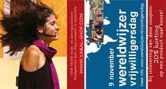 Kortingscoupon Wereldwijzer Vrijwilligersdag - goed voor 20% korting op een Yabal product naar keuze! Word wereldwijzer, én kom h'eerlijk shoppen, op 9 november in Utrecht!