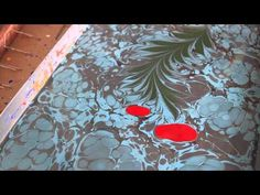 Turkish Marbling AKA Ebru In Istanbul...Painting on Water