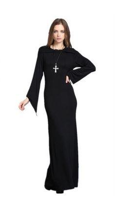 Dark In Love Full Length Hooded Dress