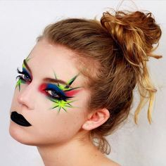 Try this bad ass look for your Independence Day festivities! @kathcraft used #sugarpill Midori eyeshadow. #midori #july4th