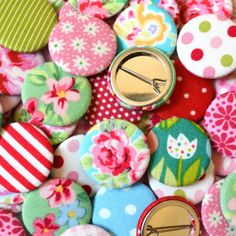 Items similar to Pack of Floral And Patterned Fabric Badges/ Pin Badges/ Pinback buttons, great as stocking fillers, crackers gifts and party bag fillers on Etsy Badge Maker, Bag Badges, Advent Calenders, Teenage Girl Gifts, Little Girl Birthday, Party Bag Fillers, Party Bags, Floral Fabric, Floral Prints