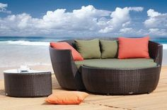Tosh Furniture Cherry Leisure Set by Tosh Furniture. $1649.00. I hope you received passing marks when you took Intro To Lounging because the Tosh Furniture Cherry Leisure Set is going to give you the master course in outdoor relaxation. This is no love seat it's a love sofa and the high curved back and extra-wide seat have enough room for two people to soak up as much fresh air as possible. The included ottoman makes sure that your feet never touch the ground and the plump ...