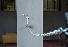 Love clever street art! Puts a smile on our face.   http://www.boredpanda.com/oakoak-street-art/