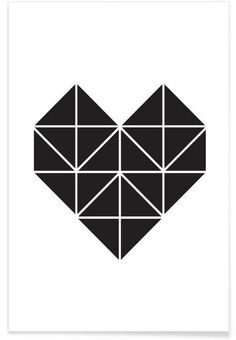 Origami Herz as Premium Poster by Eulenschnitt | JUNIQE