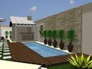 Resultado de imagem para area de piscina moderna