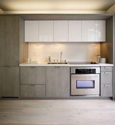 idea-de-decoracion-cocina-minimalista-en-color-gris #casasmodernaschicas