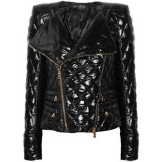 Balmain Quilted shell jacket found on Polyvore