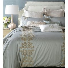 Traditional Simple Advanced Customization Cotton Embroidery Four-piece Set Bedding