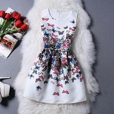 New Fashion Women Summer Dress 2015 desigual Party Sleeveless Print dress ladies summer styles sundress female Vestidos de Festa