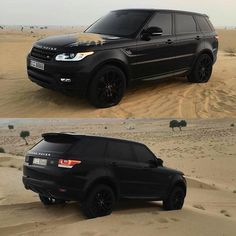 Alle Land Rover Range Rover Sport in Sand - Super autos Range Rover Negro, Range Rover Preto, Range Rover Schwarz, Range Rover Sport Black, Land Rover Sport, Matte Black Range Rover, Range Rover 2017, Land Rover Discovery Sport, Range Rovers