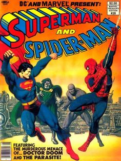 Marvel Treasury Edition Superman and Spider-Man (Marvel, Condition: NM. Origin of Superman and Spider-Man. - Available at 2013 June 16 - 23 Comics. Hq Marvel, Marvel Heroes, Series Marvel, Comic Book Covers, Comic Books Art, Book Art, Crossover, Dc Comics, Superman And Spiderman