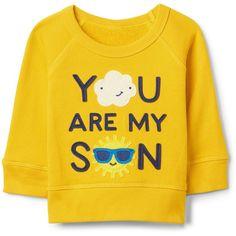 Sunshine Pullover Crewneck Sweatshirt ($19) ❤ liked on Polyvore featuring tops, hoodies, sweatshirts, crew top, crew neck pullover, yellow pullover, crew-neck sweatshirts and yellow top