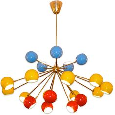Colorful sputnik lamp