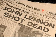 The Beatles: Liverpool Echo 'John Lennon Shot Dead', 1980. A collection of nine original newspape