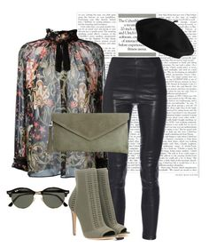 """Untitled #95"" by cina-cali on Polyvore featuring Roberto Cavalli, Yves Saint Laurent, Gianvito Rossi and Ray-Ban"