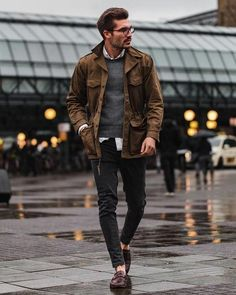 30 trendy fall fashion outfits for men to stylize with 6 Rugged Style, Style Casual, Men Casual, Casual Styles, Casual Winter, Casual Summer, Casual Wear, Looks Style, Looks Cool