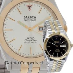 Dakota Copperback Wrist Watch.  All the healing properties of copper brought to you in the form of a classic time-piece!  $69.95
