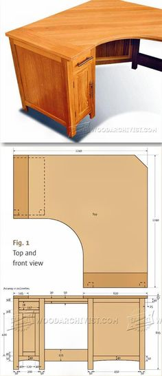 Corner Computer Desk Plans - Furniture Plans and Projects | WoodArchivist.com