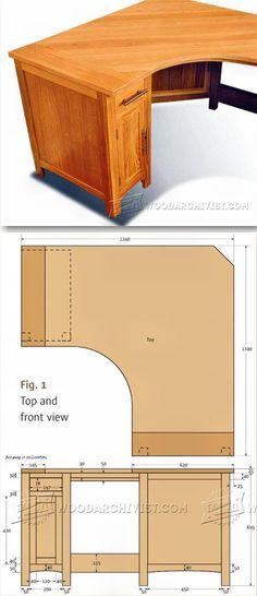 Homemade portable drawing board desk pesquisa google - Corner computer desk design plans ...