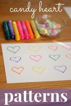 Toddler Approved!: Candy Heart Patterns