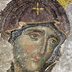 The Theotokos from the Deesis. Views of Hagia Sophia Byzantine Icons, Byzantine Art, Religious Icons, Religious Art, Byzantine Architecture, Matki, Religious Paintings, Hagia Sophia, Greek Art