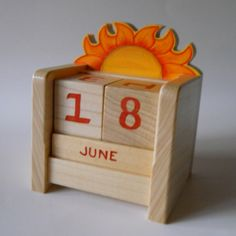 Handmade In The U.S.A.This meticulously handcrafted perpetual calendar would look great on any desk or table top. The natural grain of the poplar wood lends its own beauty to the finished piece. Handpainted numbers on each side of the blocks allow you to change the date on a daily basis, and the months are painted on ...