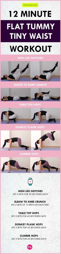 Flat Tummy Workout routines: 12 Minute Exercise For Smaller Waist & Flat Stomach - Women Portal Small Waist Workout, Flat Tummy Workout, Bed Workout, Gym Workouts, Workout Routines, Thigh Workouts, Stomach Workouts, Workout Exercises, Workout Ideas