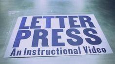 how do you letterpress?
