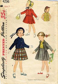 8588 1951 Vest Skirt Pattern for Fashion Dolls New