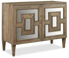 Brownstone Furniture Palmer Cabinet (Accent Chest) - teak, antique mirrored    – www.matthewizzohome.com