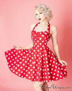 eabf81c259f Vintage Polka Dot Dresses - 50s Spotty and Ditsy Prints in 2019 ...