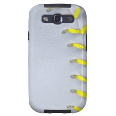 Yellow Stitches Baseball / Softball Galaxy SIII Case