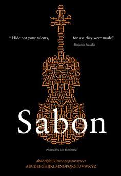 Poster design   11. Sabon Typography Poster Design