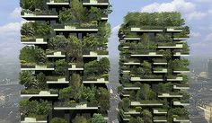 Bosco Verticale (Vertical Forest), Milan - Design Build Network. The world's first project which includes two residential towers housing trees in their balconies.