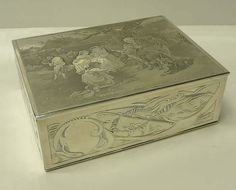 Antique silver cigar box, for guy time Downton Abbey, Cigar, Antique Silver, Smoking, Decorative Boxes, Guy, Cases, Antiques, Vintage