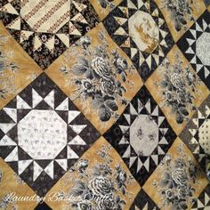 Laundry Basket Quilt of the Day - Bumble Bee