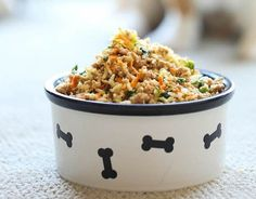 Turkey, Brown Rice, Carrots, Zucchini, Peas & Spinach | 10 Homemade Dog Food Recipes That Can Save You Money