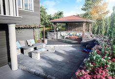 Slik får du drømmegårdsplassen i stein - Byggmakker Cottage, Cabin, Outdoor Decor, Garden, Home Decor, Homemade Home Decor, Casa De Campo, Cabins, Garten