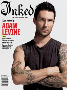 Adam Levine Covers Inked Magazine September 2012