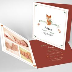 Birth announcement Pretty Fox – mixed – Double square Source by ptitsbonheurs Bebe Nature, Kidsroom, Announcement, Birth, Pretty, Baby, Images, Baby Names, Bedroom Kids