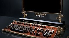 STEAMPUNK KEYBOARDS  http://thatslikewhoa.com/awesome-steampunk-keyboards/